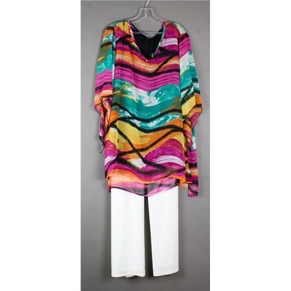 COLORFUL MIA MORE DESIGNER 2PC FORMAL OUTFIT;