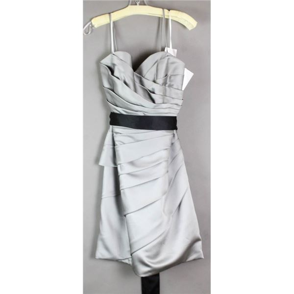 STEELE GREY SORELLA VITA FORMAL DESIGNER DRESS;