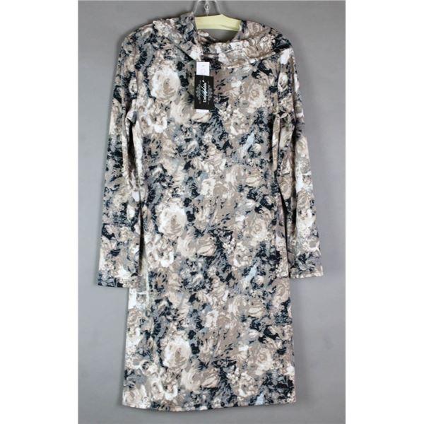 FLORAL CREAM MARVELLA FORMAL DESIGNER DRESS;