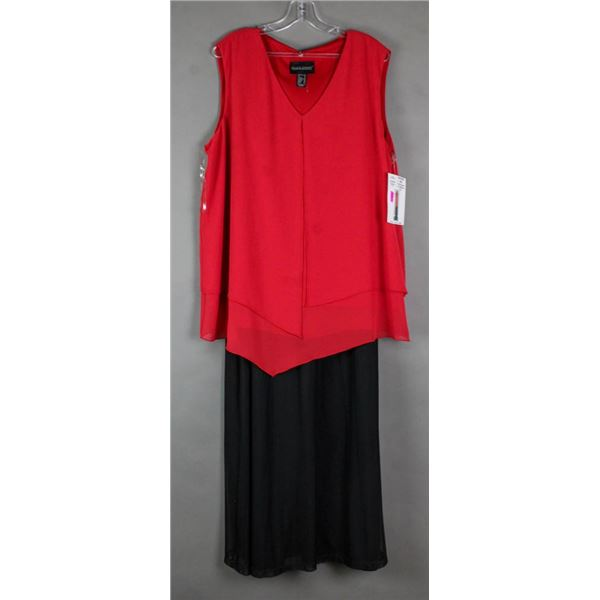 RED & BLACK FRANK LYMAN 2PC FORMAL OUTFIT;