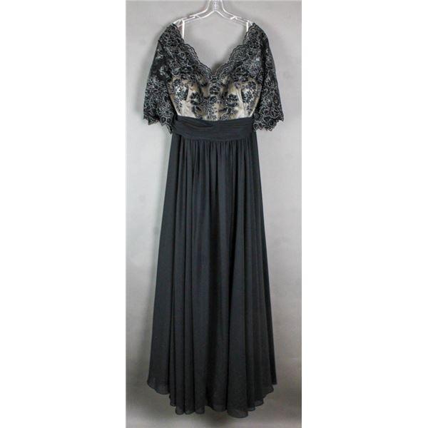 BLACK/ LACE JOLENE FORMAL DESIGNER DRESS;