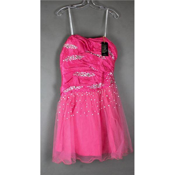 CERISE PINK JOLENE/ NOX FORMAL DESIGNER DRESS;