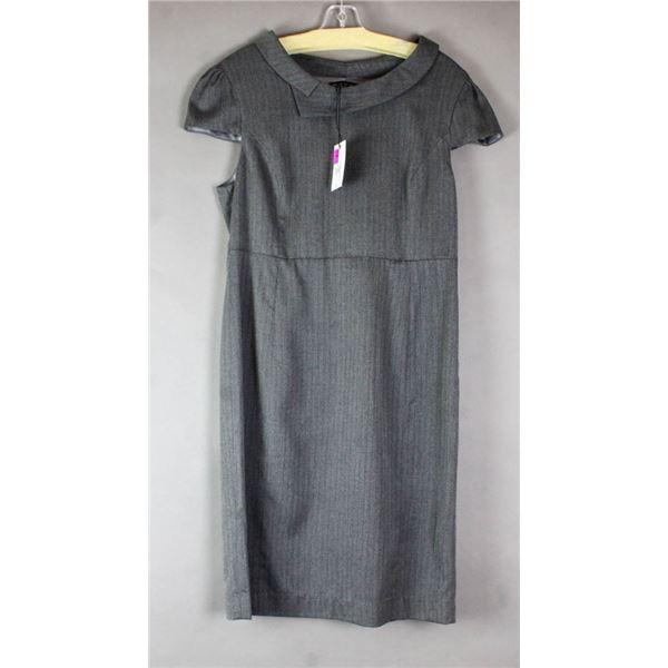 BLACK/ GREY FEVER LONDON DESIGNER DRESS;