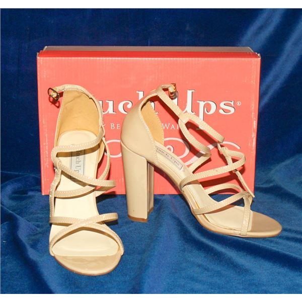 """TOUCH UPS NUDE 3 1/4"""" STRAPPY HIGH HEEL SANDAL"""