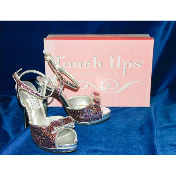 """TOUCH UPS PINK MULTI COLOR 4"""" HIGH HEELS;"""