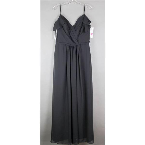 BLACK ADA JAMES LONG FORMAL DESIGNER DRESS;