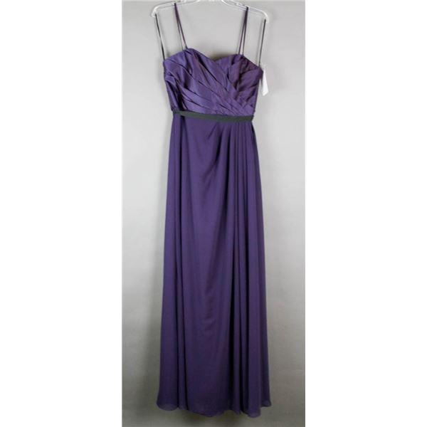 CONCORD PURPLE SORELLA VITA FORMAL DESIGNER DRESS;