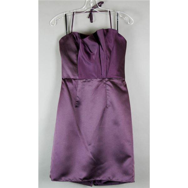 PLUM PURPLE SORELLA VITA FORMAL DESIGNER DRESS;