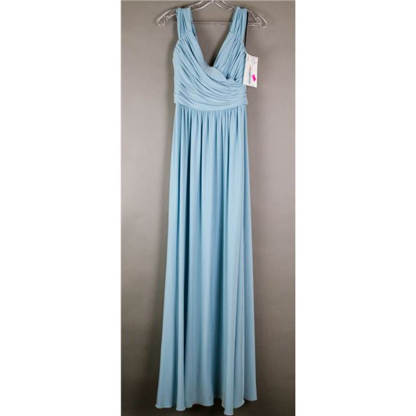GLACIER BLUE SORELLA VITA  DESIGNER DRESS;