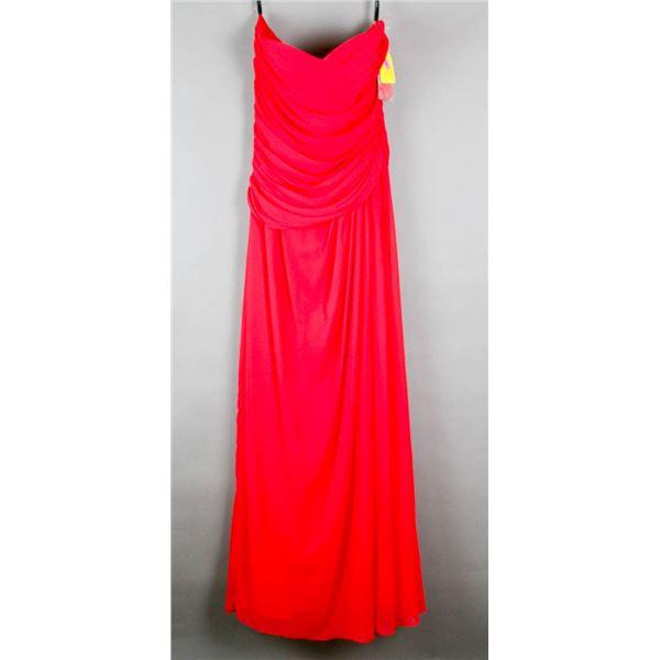 RED AFTER SIX FORMAL DESIGNER DRESS;