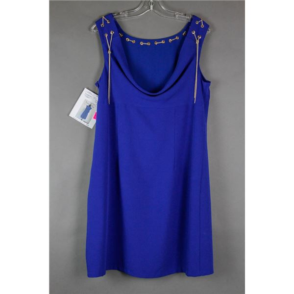 ROYAL BLUE/ GOLD CHAIN ACCENTED CARTISE FORMAL
