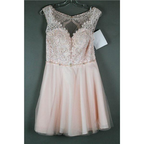 PALE PINK ALYCE FORMAL DESIGNER DRESS;