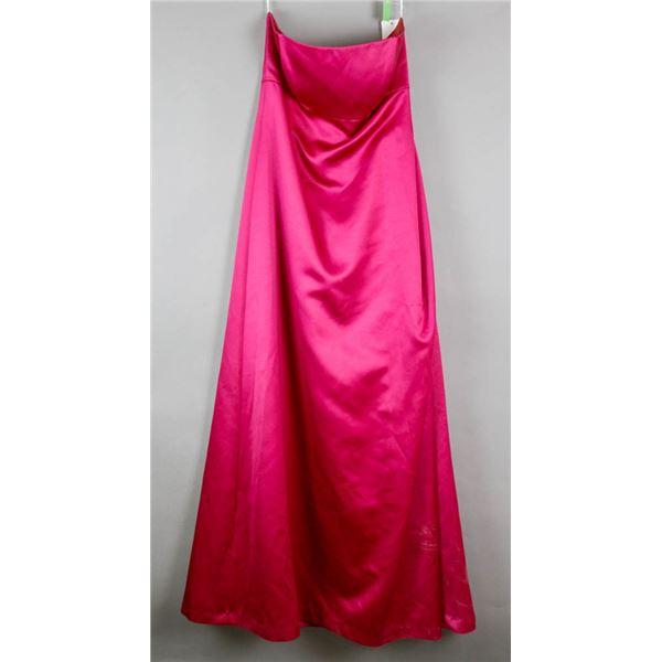 MAGENTA AFTER SIX DESIGNER DRESS; SIZE 10-