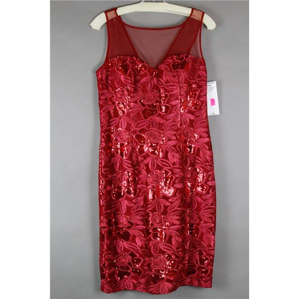 WINE RED SEQUENCE JS GROUP FORMAL DESIGNER DRESS;