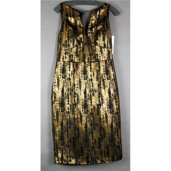BLACK & GOLD JS GROUP FORMAL DESIGNER DRESS;