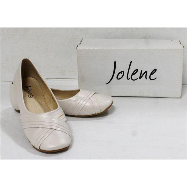 JOLENE IVORY BALLET STYLE SATIN YOUTH FORMAL SHOES