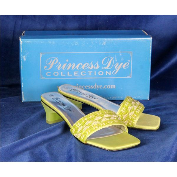 PRINCESS DYE COLLECTION LIME GREEN/ BEADED STRAP