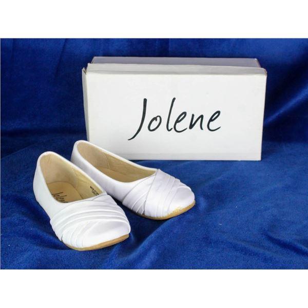 JOLENE WHITE INFANT SLIDE ON FORMAL SHOES;