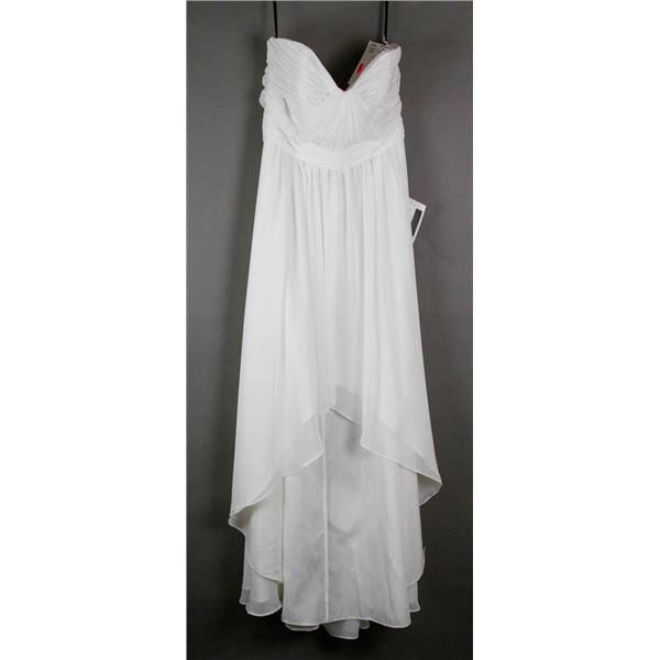 IVORY SORELLA VITA FORMAL DESIGNER DRESS; SIZE 18
