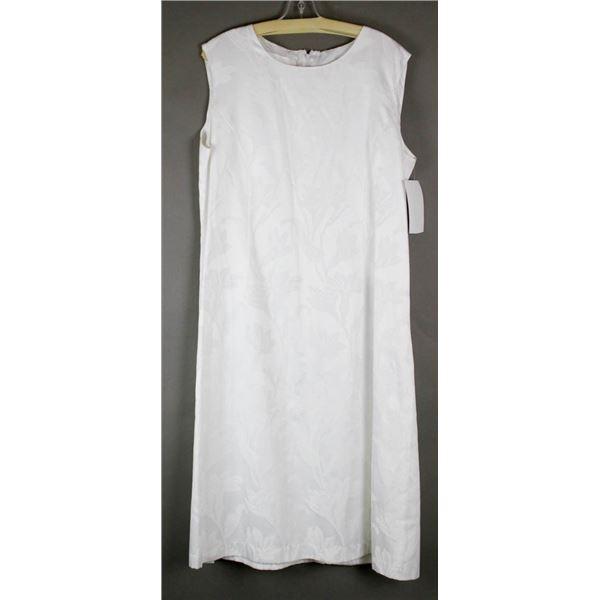 WHITE DEVINE WHITES DESIGNER BRIDAL DRESS;