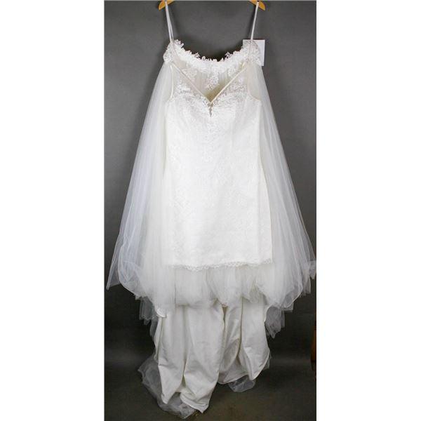 IVORY BONNY 2PC DESIGNER BRIDAL DRESS W/ SKIRT