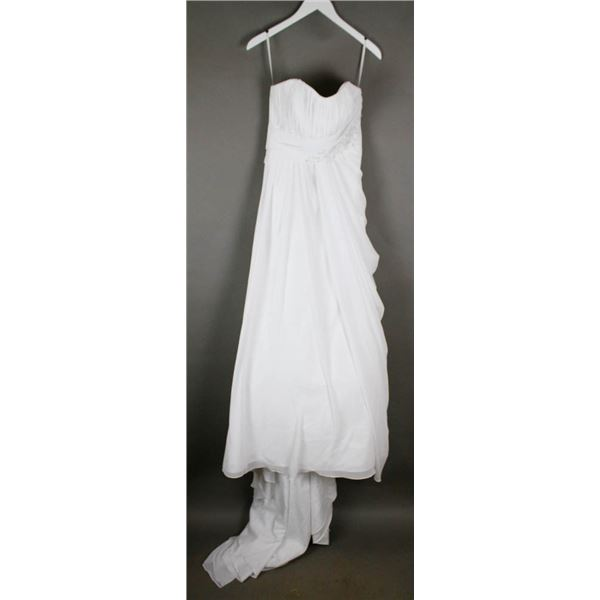 WHITE BONNY DESIGNER BRIDAL GOWN; SIZE 10