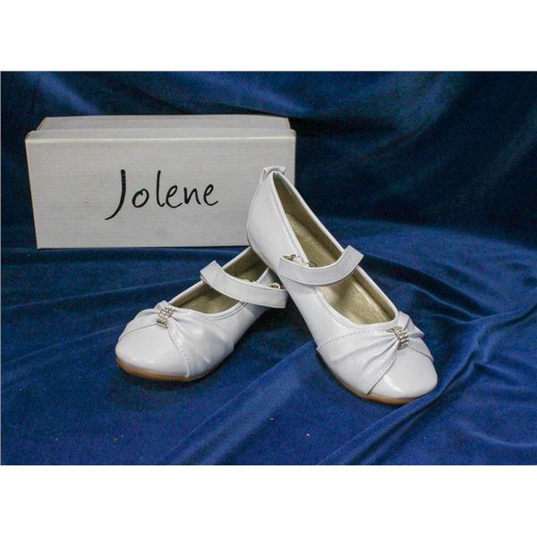 WHITE JOLENE CHILDREN'S FORMAL BALLET SLIPPER SHOES