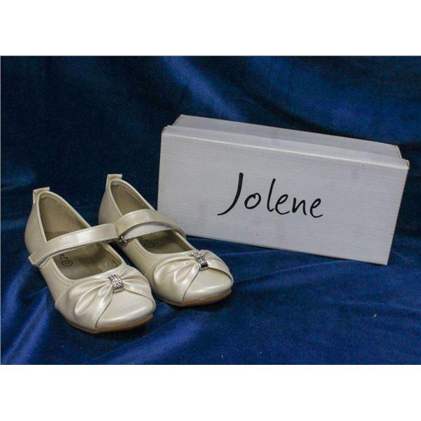 IVORY JOLENE TODDLERS FORMAL BALLET SLIPPER SHOES