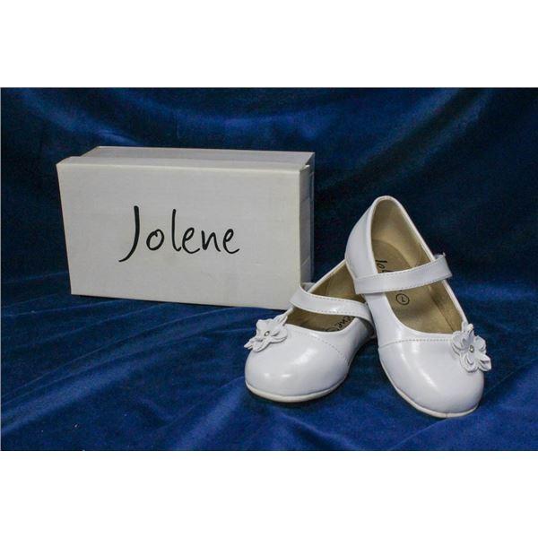 WHITE JOLENE TODDLERS FORMAL BALLET SLIPPER SHOES