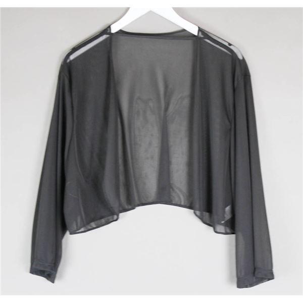 BLACK SHEER JOLENE DESIGNER BOLERO WOMEN'S