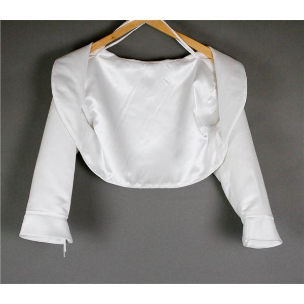 BONE WHITE BOLERO STYLE BRIDAL WOMEN'S JACKET;