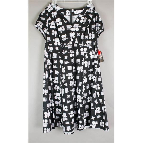 BLACK/  MEDIA CHERRY VELVET DESIGNER DRESS;