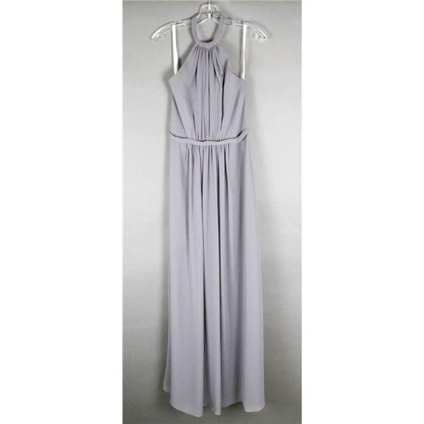 CHARCOAL ADA JAMES FORMAL DESIGNER DRESS;