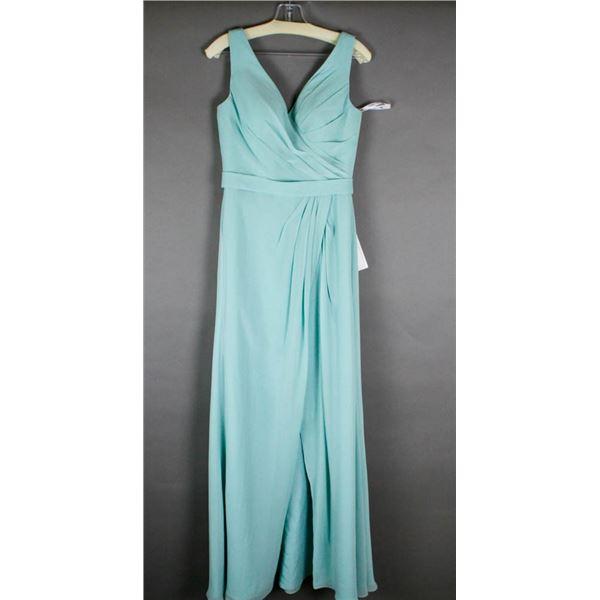 AQUA ROMANTIC BRIDALS FORMAL DESIGNER DRESS;