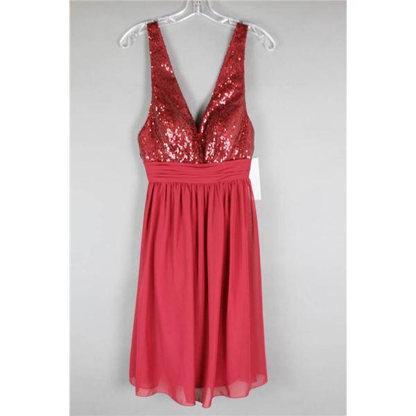 BURGUNDY/ SEQUENCE VENUS FORMAL DESIGNER DRESS;