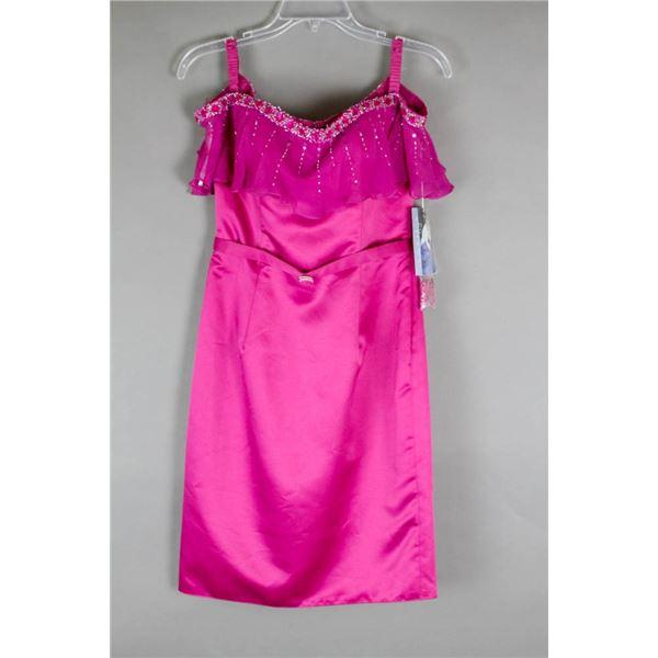 DARK MAGENTA HEATHER BY HFH FORMAL DESIGNER DRESS;