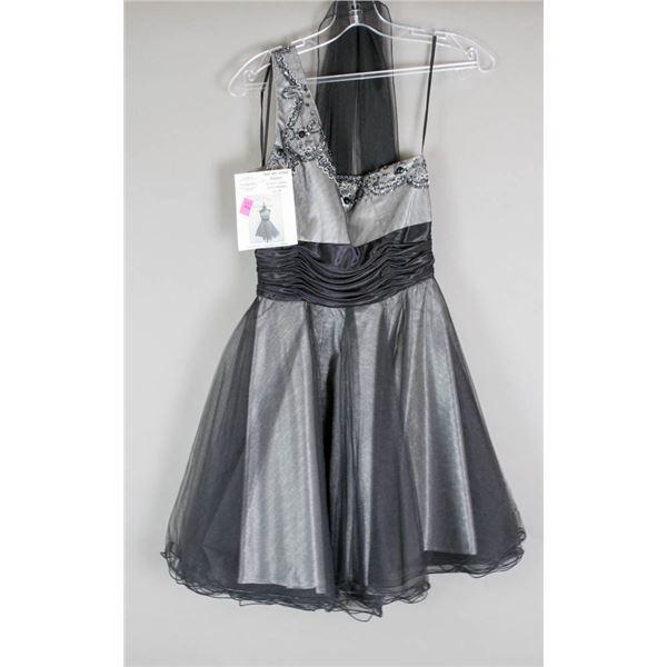 BLACK/ SILVER JOLENE FORMAL DESIGNER DRESS;