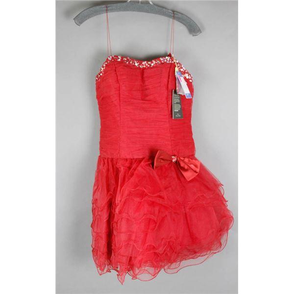 RED JOLENE FORMAL DESIGNER DRESS;