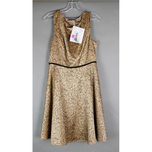 GOLD/ BLACK FEVER LONDON DESIGNER DRESS;