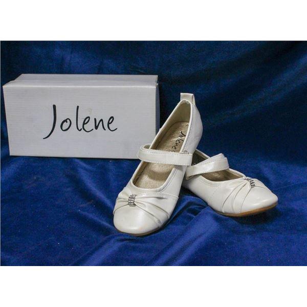 IVORY JOLENE CHILDREN'S BRIDAL SLIPPERS;