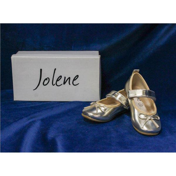 GOLD JOLENE TODDLERS BRIDAL BALLET SHOES;