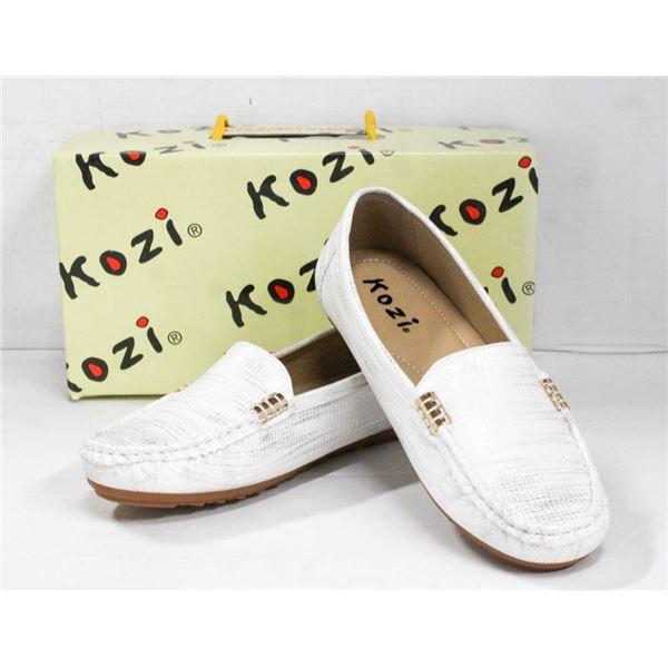 SILVER/ WHITE VANGELO/ KOZI SLIDE ON FORMAL SHOES;