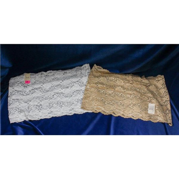 LOT OF 2 ALLY ROSE STRAPLESS LACE TOP UNDER-