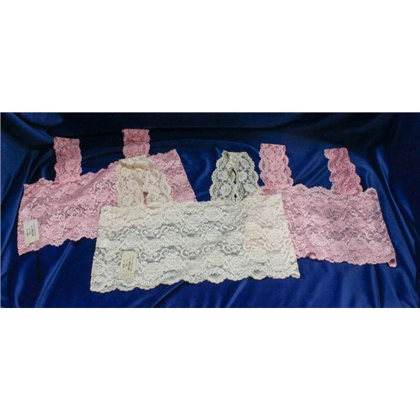 LOT OF 3 ALLY ROSE LACE CAMI-TOP UNDER-
