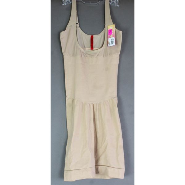 SPANX OPEN BUST FULL SLIP; NATURAL - SIZE SMALL