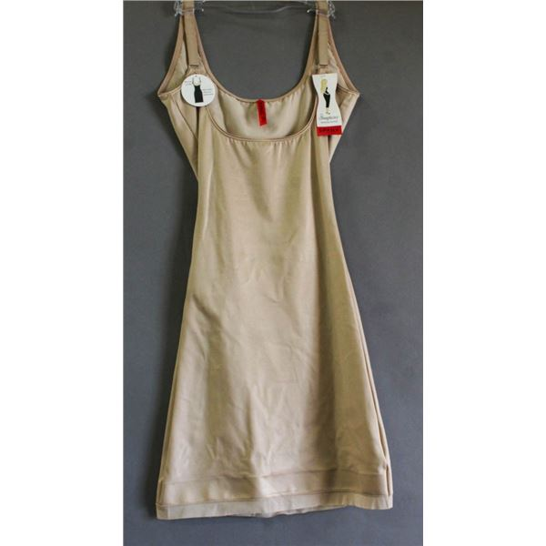SPANX OPEN BUST SLIP- NUDE; SIZE SMALL