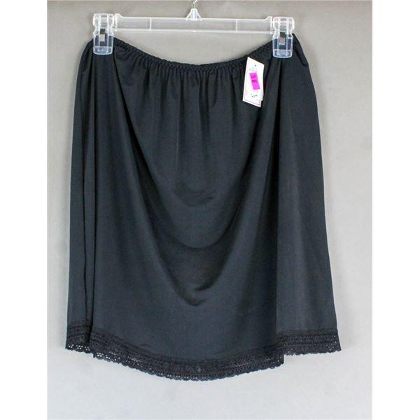 PATRICIA LINGERIE DRESS SLIP- BLACK; SIZE XL