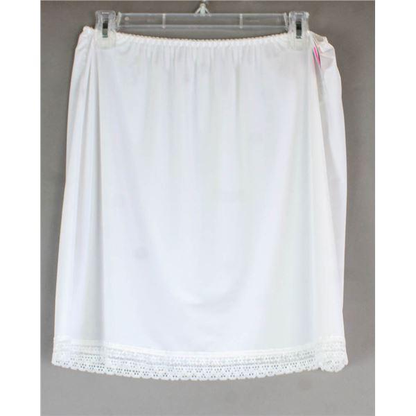 PATRICIA LINGERIE DRESS SLIP- WHITE; SIZE XL