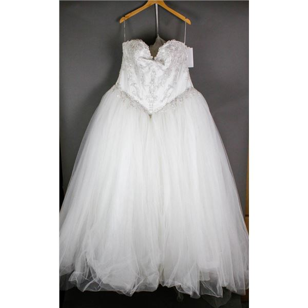 IVORY EMBROIDERED MAGGIE BRIDAL DESIGNER GOWN;