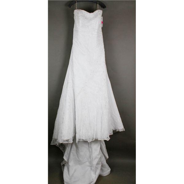 WHITE LACE MAGGIE BRIDAL DESIGNER GOWN;